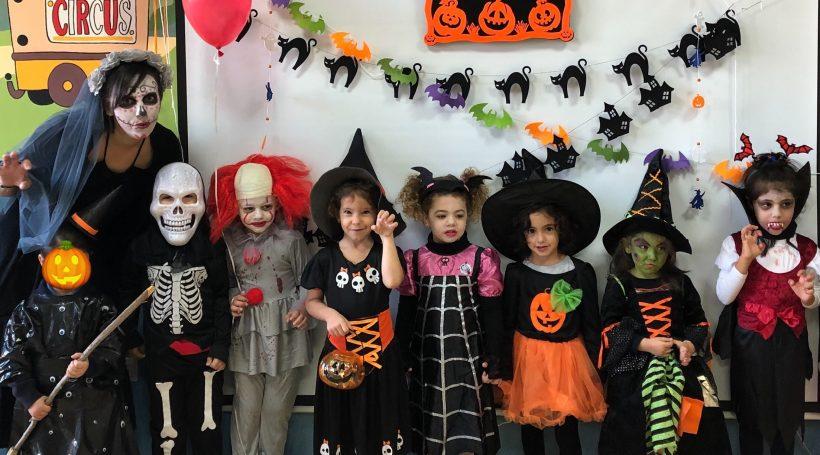 Alumnos celebrando Halloween en nuestro colegio bilingüe en Granada