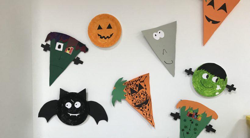 Decoración de Halloween en nuestro colegio bilingüe en Granada