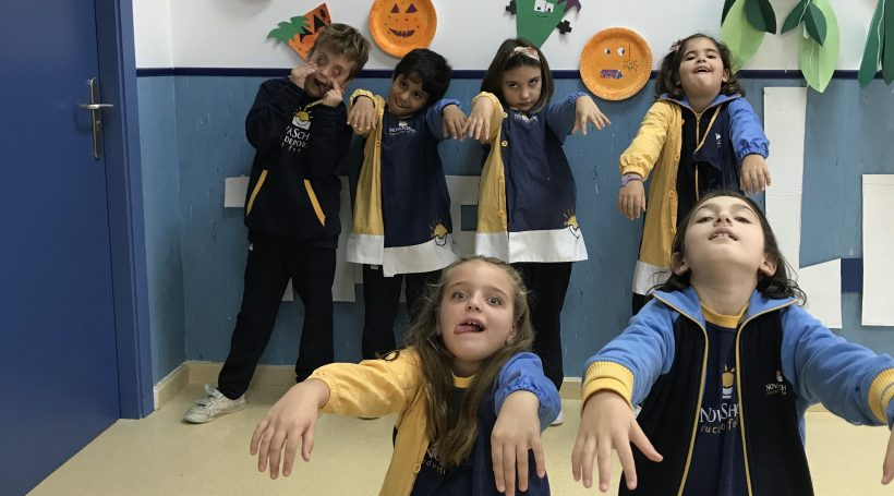 Alummnos disfrazados en Halloween 2019