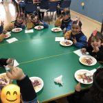 almuerzo en nuestro colegio bilingüe