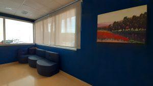 Sala de espera del colegio residencial